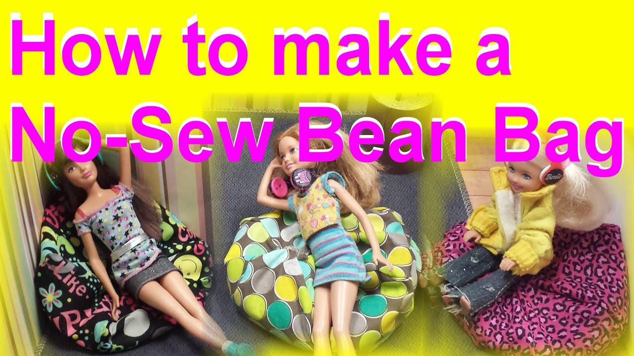 Easy No Sew Bean Bag