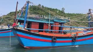 Tàu cá Bình Định hùng hậu khai lộc biển đầu năm