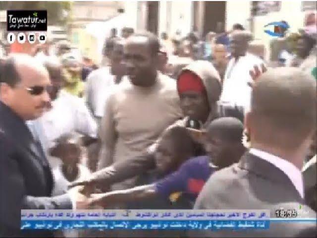 الرئيس محمد ولد عبد العزيز يؤدي زيارة تفقدية لثانوية الميناء - قناة شنقيط