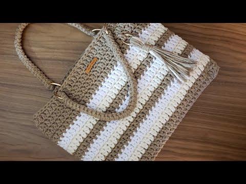 Bolsa de Crochê Com Barbante - Fio Spesso - Tutorial de Crochê - Purse Tutorial - Crochet Bag - DIY