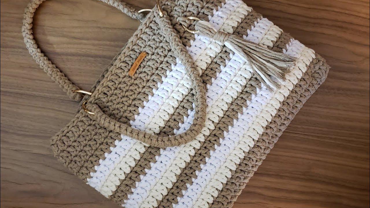 44708e91c Crochet Bag With String Thread - Spesso Thread - Crochet Tutorial - Purse  Tutorial- DIY