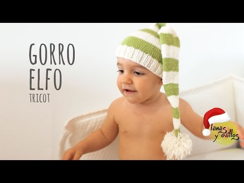 Tutorial Gorro Elfo Tricot Fácil y Rápido (Todas las tallas) - YouTube