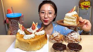 크레이프 생크림 케이크 비스킷슈 초코 에그타르트 디저트…