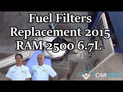 Fuel Filters Replacement 2015 RAM 2500 67L - YouTube