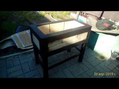 лофт мангал из стали и кирпича