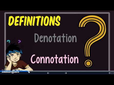Denotation and Connotation Notes