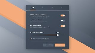 Designing Settings UI Using JavaFx || Scene builder and Netbeans