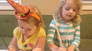 Halloween Crafts For Kids!  Painting Wood Pumpkins.
