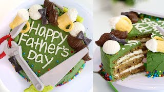 How to make a Father's Day Cake + Chocolate Decorations! | RECIPE
