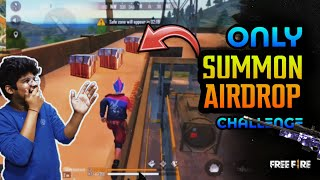 FREEFIRE || ONLY SUMMON AIRDROP CHALLENGE WITH TSG JASH & TSG LEGEND || BEST GAMEPLAY LIVE REACTION