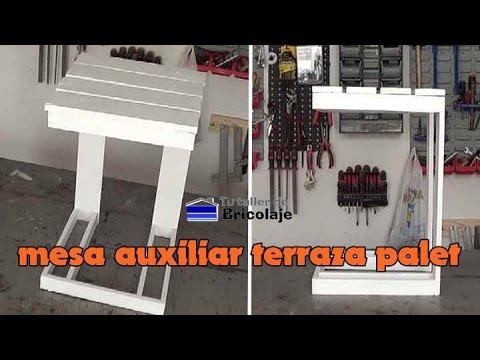 C Mo Hacer Una Mesa Auxiliar De Terraza Con Palets Youtube