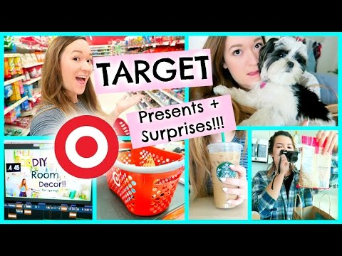 SHOPPING AT TARGET | SURPRISES + PRESENTS!!