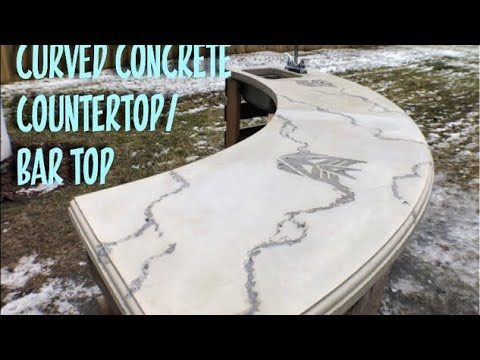 Curved Concrete Countertop