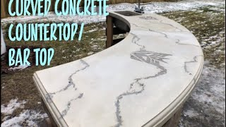Curved Concrete Countertop / Bar Top