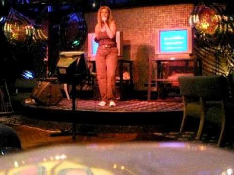 Laurie at karaoke night