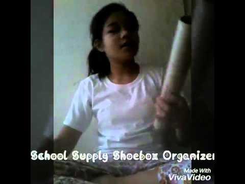 DIY School Supply Organizer by using only Shoe Box!