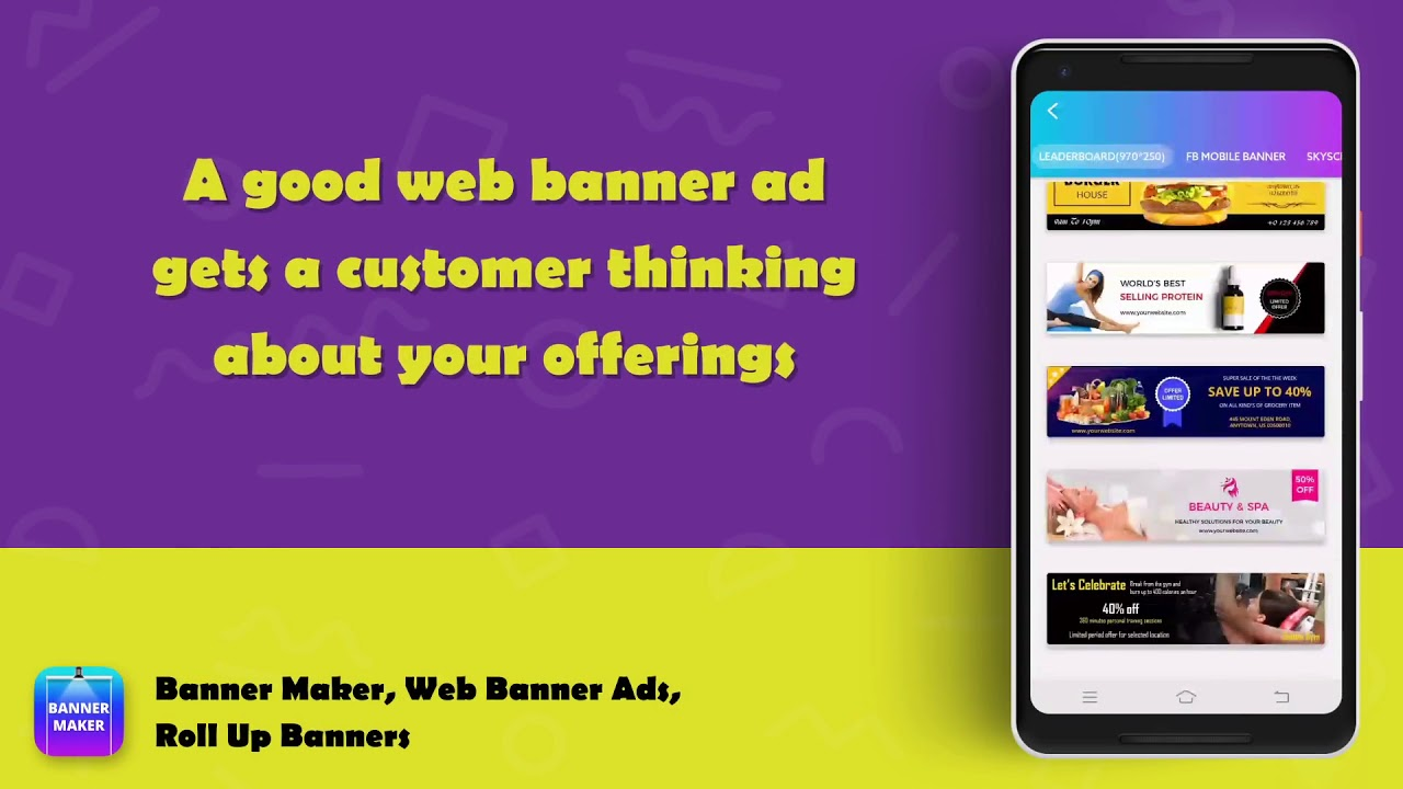 Banner Maker Web Banner Ads Roll Up Banners Youtube