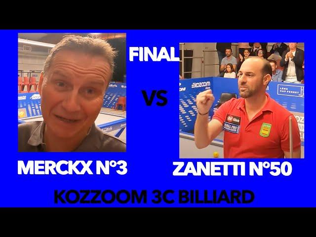BILLARD 3 BANDES  3C -  FINALE CHALLENGE CUP MERCKX vs LEGAZPI - 5ème Set - Kozoom - Lège Cap Ferret