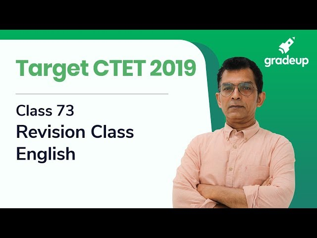 Target CTET 2019 | Class 73 | Revision Class | English by Vinod Shankaran