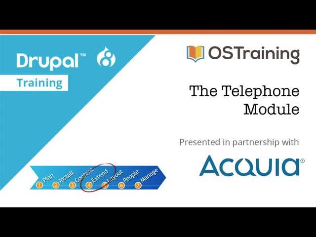 Drupal 8 Beginner, Lesson 46: The Telephone Module