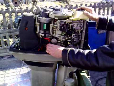 Suzuki 55 hp outboard motor 1995 r 2 stroke (dwusuw) - YouTube