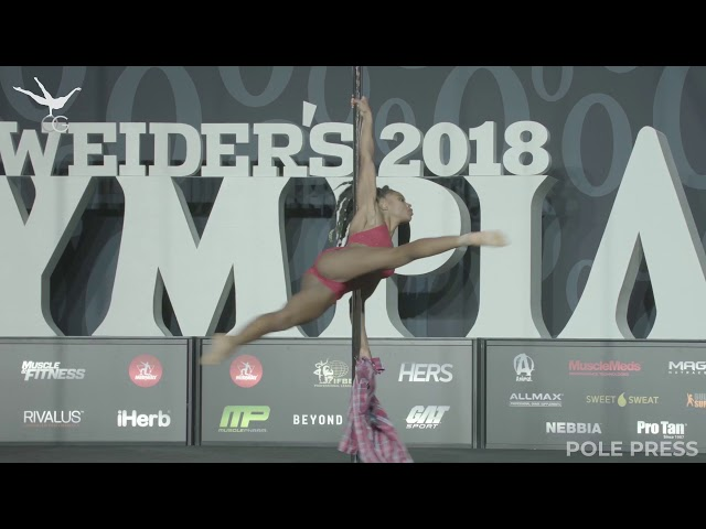 Ashley Fox: OG Pole Fitness at Olympia, 3rd Place (2018)