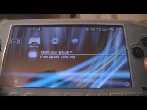 how to put downloaded games onto hacked psp