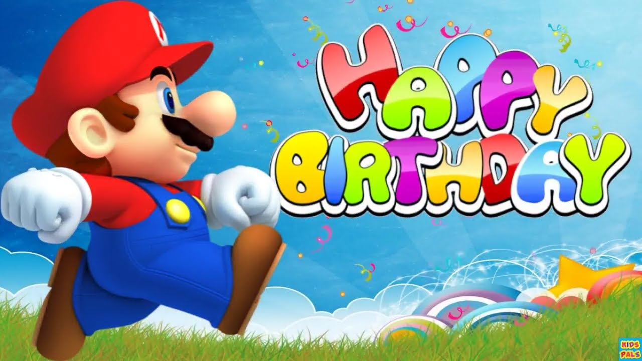 happy birthday song super mario friends youtube. Black Bedroom Furniture Sets. Home Design Ideas