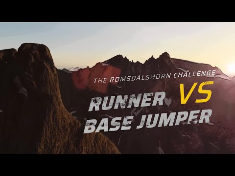 WATCH: Runner vs. Base Jumper