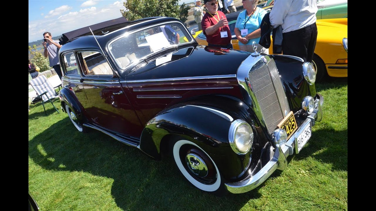 1953 mercedes 220 show car youtube for 1953 mercedes benz 220 sedan for sale