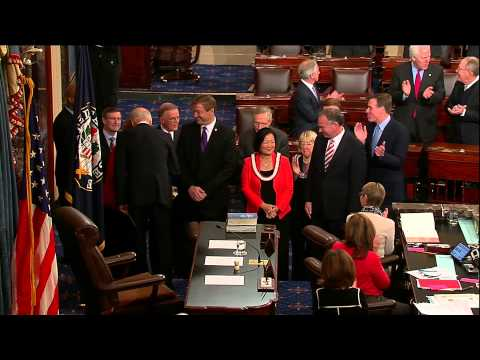 Heidi Heitkamp, Mazie Hirono, and Tim Kaine sworn in as U.S. Senators