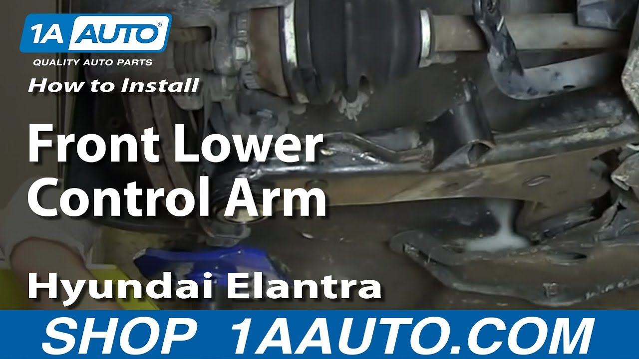 How To Install Replace Front Lower Control Arm 200106 Hyundai Elantra  YouTube
