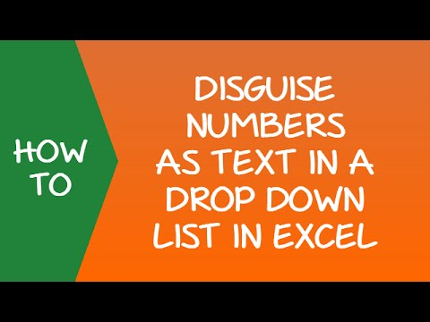 Format Numbers as Text in a Drop Down List in Excel
