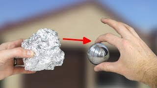 How to make  Mirror polishing aluminum foil ball - Japanese foil ball polishing challenge
