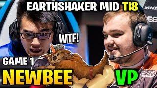 NEWBEE vs VP TI8 - EARTHSHAKER MIDLANE WTF - THE INTERNATIONAL 2018