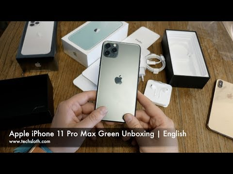 Apple Iphone 11 Pro Max Green Unboxing English Youtube