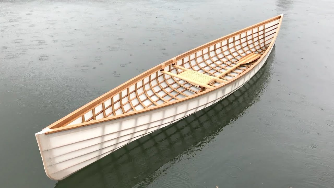 Building a skin-on-frame Canoe, Part 13: Full size, single blade solo canoes