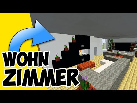 Wie baut man ein modernes Wohnzimmer in Minecraft | Minecraft Wohnzimmer bauen