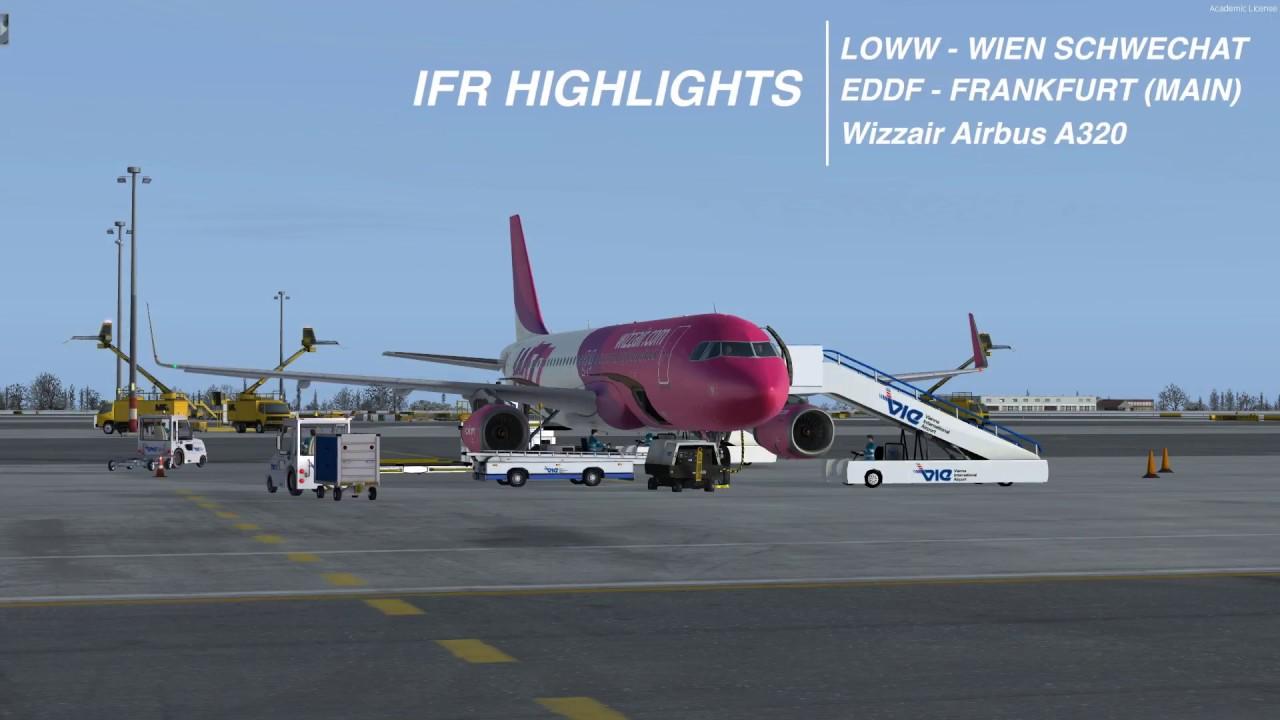 Prepar3d Loww Eddf Highlights Hd A320 Wizzair Youtube