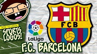 How to Draw F.C. BARCELONA Logo (La Liga) | Narrated Easy Step-by-Step Tutorial