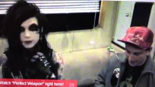 Black Veil Brides BlankTV interview about Andy Sixx
