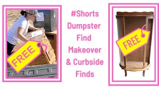 #shorts Dumpster Find Makeover and Curbside Finds