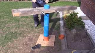 Brunnenbohren von Hand zur Bewässerung Teil 1. Schritt für Schritt