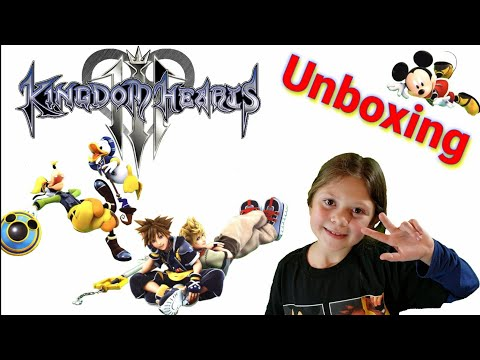 KINGDOM HEARTS 3 DELUXE EDITION - COLLECTIBLE - UNBOXING - FABRIC POSTER & BLIND BAG FIGURES