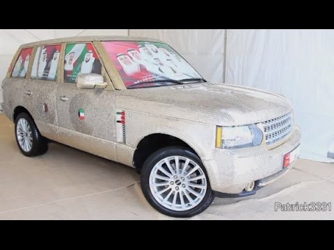 Car made of Coins  dresses up with 57,000 Coins only in Dubai