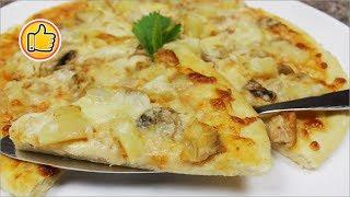 видео Гавайская пицца с ананасами и курицей