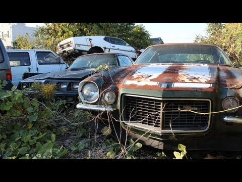 Australian Stumbles Across U S Car Graveyard In Japan Video