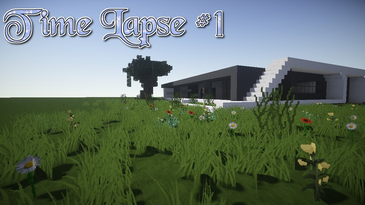 Minecraft Time Lapse 1 Modern House YouTube