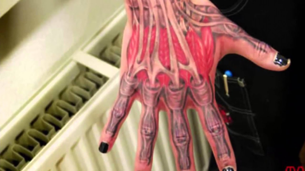 12 Creepiest Anatomical Tattoos Youtube