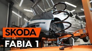 Cum se înlocuiește arc de suspensie din față SKODA FABIA 1 (6Y5) [TUTORIAL AUTODOC]